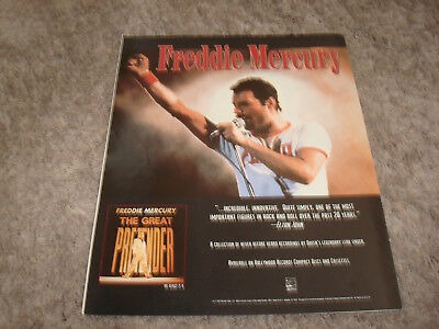 "FREDDIE MERCURY of QUEEN 1992 ad for ""Great Pretender"" Brian May, Roger Taylor"