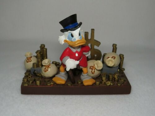 Scrooge McDuck WIth Pile of Money Disney Resin Desk Figurine - MINT