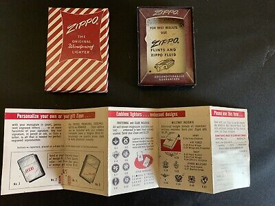 VINTAGE ZIPPO EMPTY RED CANDY BOX