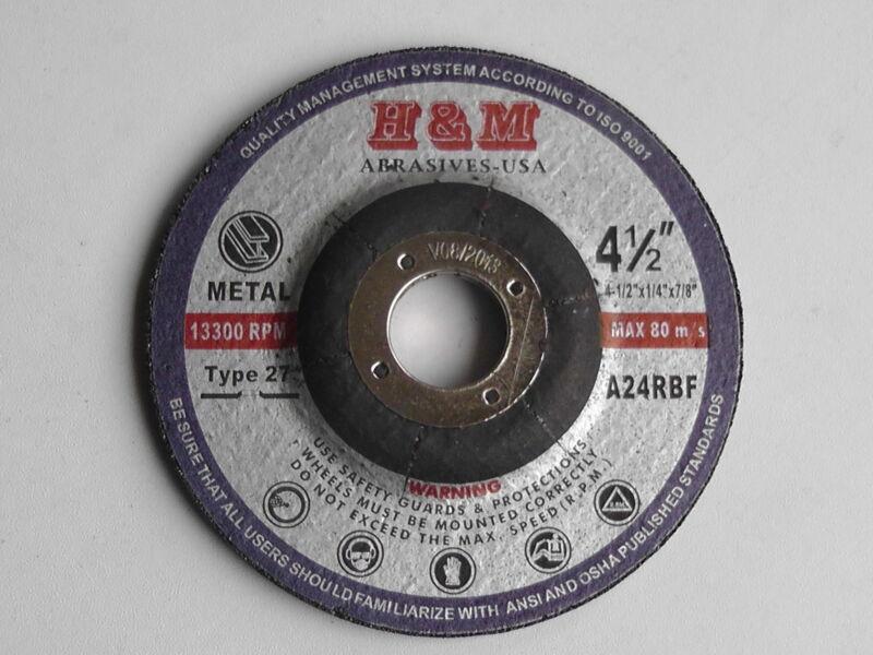 "10 4-1/2""x1/4""x7/8"" Metal Grinding Wheels Angle Grinder Grinding Disc / Type 27"