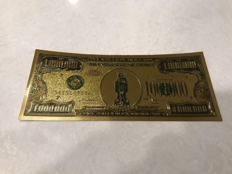 Santa muerte -  Green - Holy Death million dollar bill - Money - Protection
