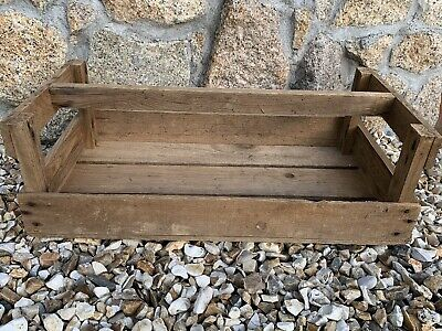 X2 Vintage Wooden Crate, Potato Tray, Apple Crate Gardening Trug Seed Tray