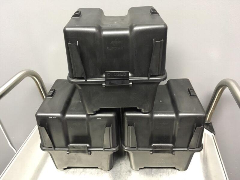 Lot of 3 Fluoroware E160-60 Antistatic Transport Wafer Carrier 150mm Storage Box