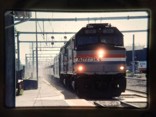QD05 ORIGINAL TRAIN SLIDE AMTRAK AMT ENGINE 394