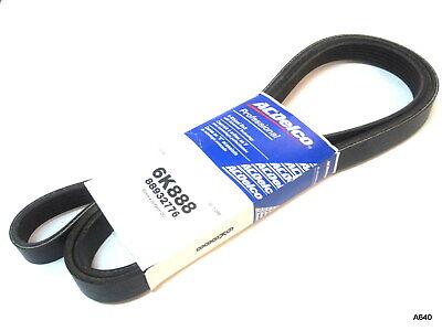 Serpentine Belt-V-Ribbed ACDelco 6K888 GM 88932776