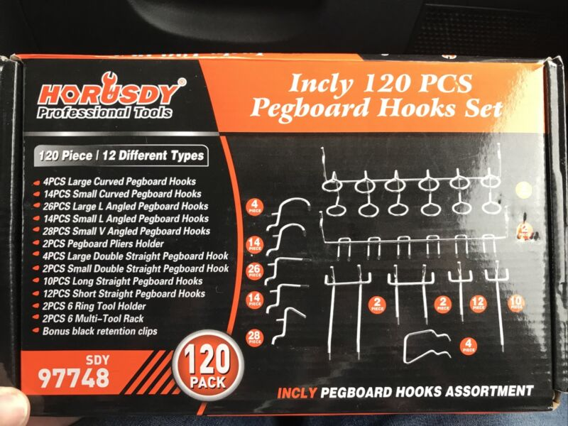 horusdy pegboard hooks set sdy97748