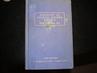 1942 Blue Book 1st First Edition R.S. Yeoman Handbook of U.S. Coins, as pictured