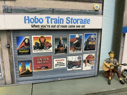 """S Scale Scratch Built """"TRAIN STORE"""" Building Flat w/LED ? American Flyer 4"""