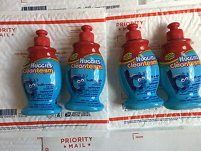 4 Huggies Cleanteam Blue Melon Splash  - Bath Wash Rare HTF Huggies Baby Wash