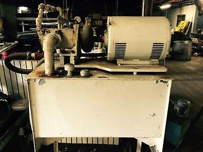 15hp Baldor Hydraulic Power Pumping Unit 40 Gal 230460v Vickers Pump Hydraulics