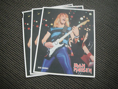 Vtg 84 FREEZZ FRAME Iron Maiden Dave Murray Live Color 8x10 Photo Promo Picture