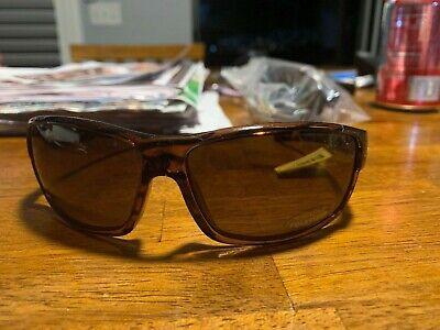 Optics Sports Sunglasses Voucher Injected Frames Polarized - Brown Stripe/Brown