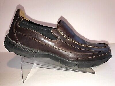 b7c117a313 Timberland Smart Comfort Slip On Brown Leather Mens Loafers Size 10.5 M  Shoes