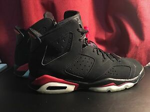Jordan 6 Black Varsity Red