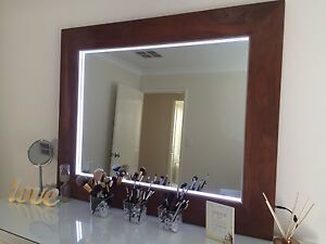 Custom made solid jarrah makeup mirror Canning Vale Canning Area Preview
