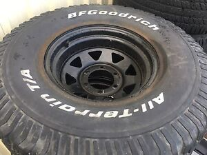 Sunraysia wheels and tyres bfgoodrich A/T 15 inch Greenacre Bankstown Area Preview