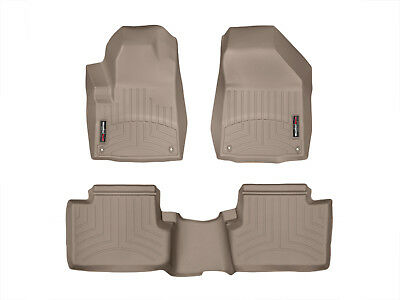 WeatherTech FloorLiner Mat for Jeep Cherokee - 2014-2015 - 1st/2nd Row - Tan