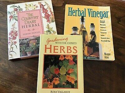 Gardeners Herbal Mint - Lot of 3 Herb books-The Country Diary Herbal- Herbal Vinegar-Herbs, Gardening