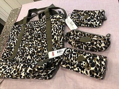 Kipling Sheeny animal print bags-group of 4 items: one new Without Tag and 3 NWT