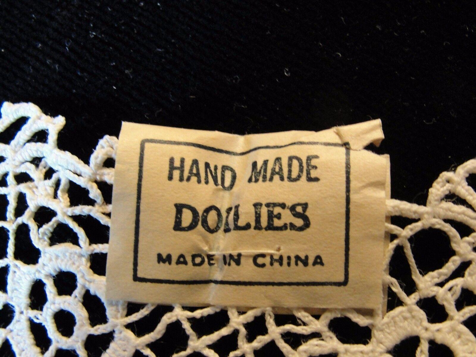 Купить 12 VTG 5 1/2-6 HAND MADE COTTON LACE DOILIES NEW OLD STOCK 1940'S ONE DOZEN