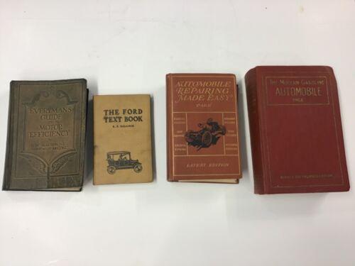 Four 1920's Automobile Repair Books