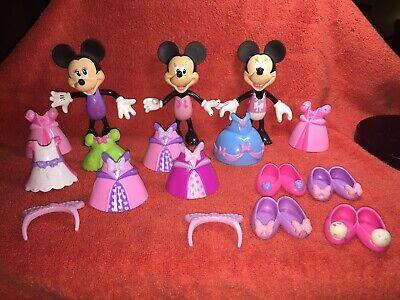 Disney MINNIE MOUSE BOWTIQUE 3 DOLLS & SNAP ON CLOTHES](Minnie Bowtique Toys)