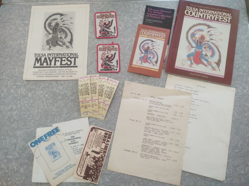 Vintage 1978 Tulsa OK International  Music Festival Press Kit