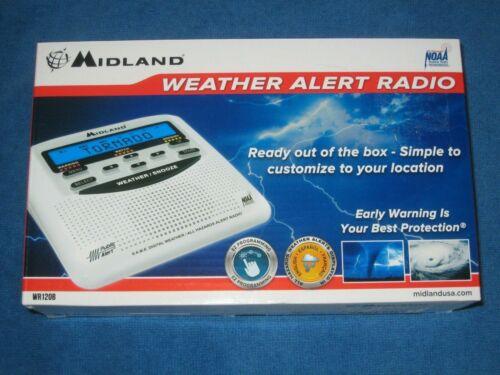 Midland WR120B NOAA Emergency Weather Alert Radio Battery w/Back Up, New!