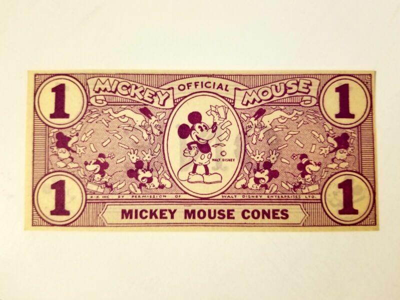 1930s Mickey Mouse Disney Dollar Cone Vintage Rare