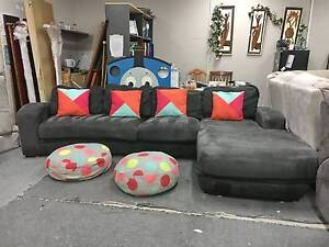 TODAY DELIVERY MODERN BIG GREY L SHAPE Sofa lounge QUICK SALE Belmont Belmont Area Preview