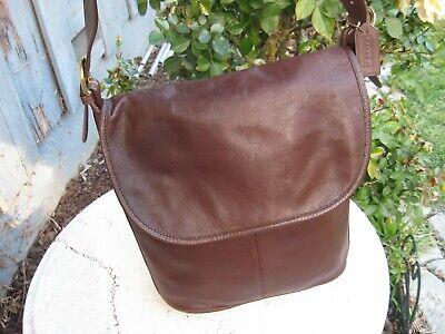 Vintage Coach Brown leather Bucket Shoulder Bag very nice!