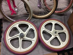 Old school vintage BMX Peregrine mag wheels