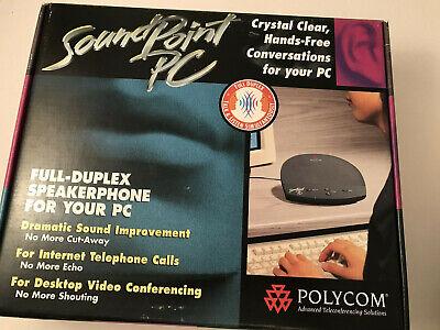 Polycom Soundpoint PC Speakerphone Full Duplex 180 Degree Pickup FREE SHIPPING.
