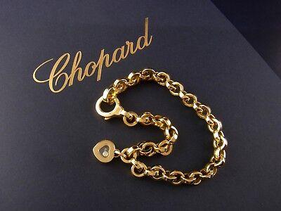 Chopard Happy Diamonds Heart Herz Armband Armkette Bracelet 18 kt Gold 1 Diamant