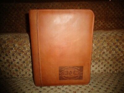 Franklin Covey Usa Brown Nubuck Leather Specialty Classic Zipper Close Planner
