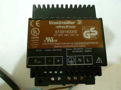 Weidmuller 8739140000 Power Supply Cp Snt 48w 24v 2a