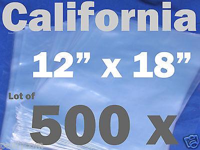 Lot Of 500 Piece Heat Shrink Wrap Film Flat Bags 12x18 Candles Pvc 12 X 18