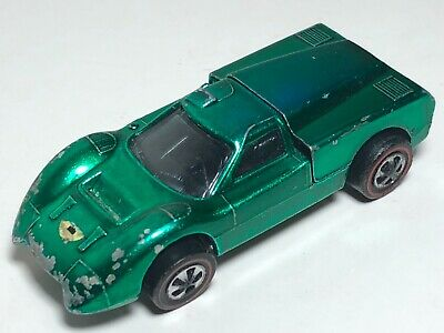 Hot Wheels Redline Ford J Car, Green Blue Hue, 1967 Mattel Inc U.S.A. Base