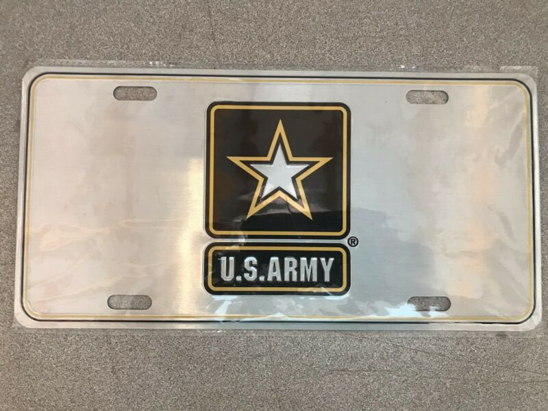 U. S. ARMY LICENSE PLATE NEW IN PLASTIC LICENSED PRODUCT