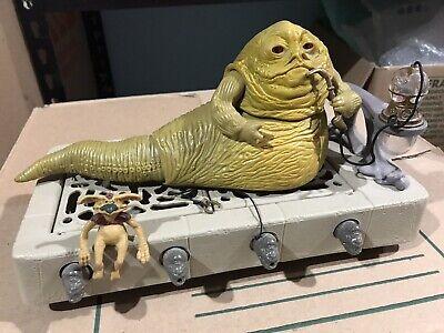 Original Vintage Star Wars Kenner ROTJ Jabba the Hutt Playset 100% Complete