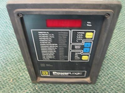 Square D Power Logic Circuit Monitor 3020 Cm2350 With 3090 Vpm-277-c1 Used