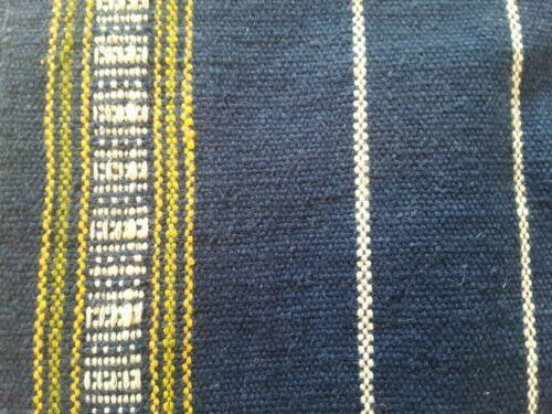 "Woven Tablecloth Textile Guatemalan Peruvian South America Navy Blue 58"" x 37"""