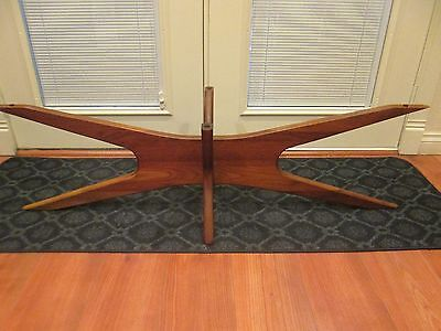 MID CENTURY DANISH MODERN ADRIAN PEARSALL WALNUT COFFEE TABLE BASE PRICED 2 SALE