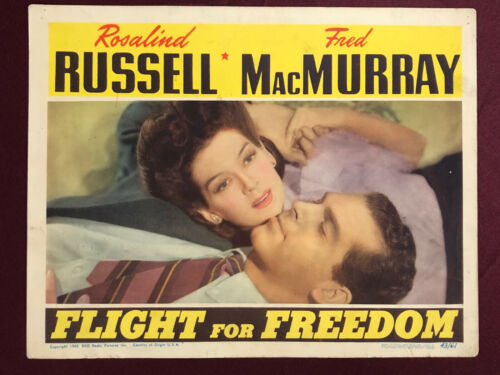 FLIGHT FOR FREEDOM LOBBY CARD MOVIE POSTER 1943 Earhart RUSSELL MACMURRAY 2
