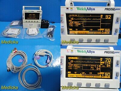 Welch Allyn Propaq Encore Protocol 206el Patient Monitor W Patient Leads 22368