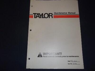 Taylor Te-300s Forklift Lift Truck Maintenance Manual Book