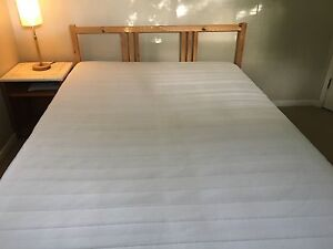 Wooden Ikea bed base and mattress Indooroopilly Brisbane South West Preview