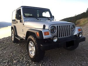 2004, jeep, TJ, 4.0L/6 cylender, manual with A/C