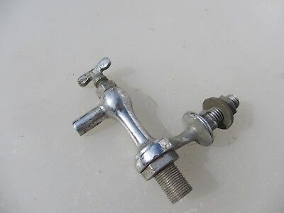Unusual Antique Chromed Brass Samovar Tap Water Urn Tank Old Vintage Keg