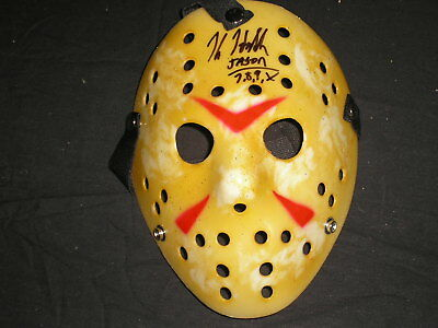 KANE HODDER Signed Jason Voorhees Mask Autograph Friday the